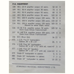 retail price list 1967