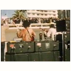 Captain Beefheart, Cannes Beach, with two AC100s