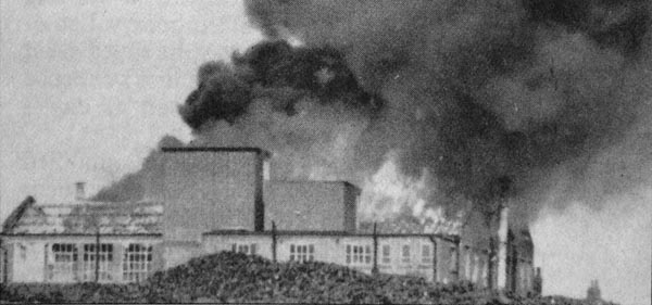 Vox Works, Burndept Factory, West Street, Erith, fire in December 1965