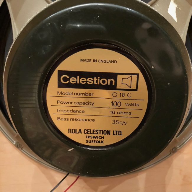 Celestion G18C Greenback T1200k