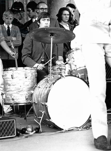 Rolling Stones at Longleat with a Vox AC80/100 and AC50, August 1964