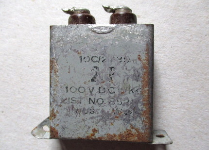 2uf capacitor from a Vox AC100 and Vox AC50 speaker cabinet