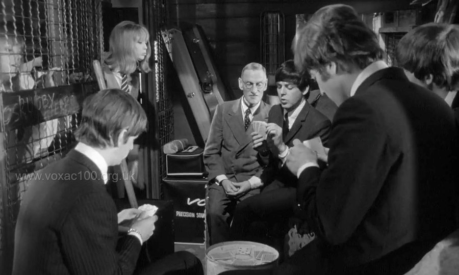 beatles, hard day's night, baggage compartment scene