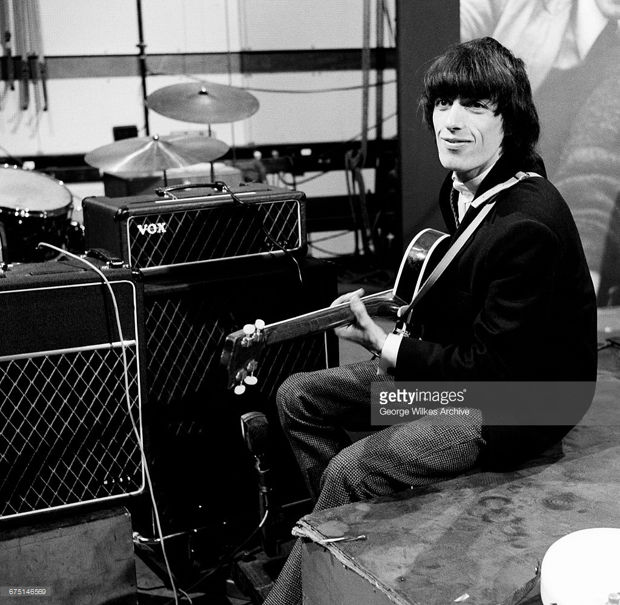 Bill Wyman at the BBC, mid 1964