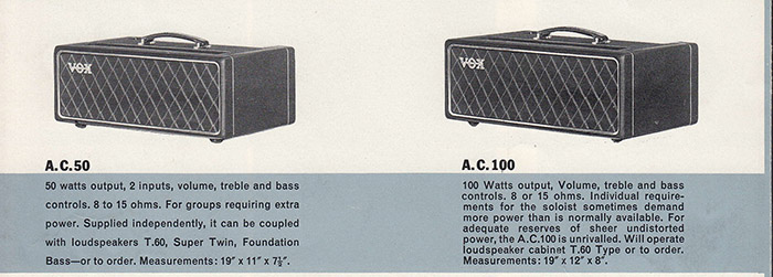 Vox catalogue, January or February 1964