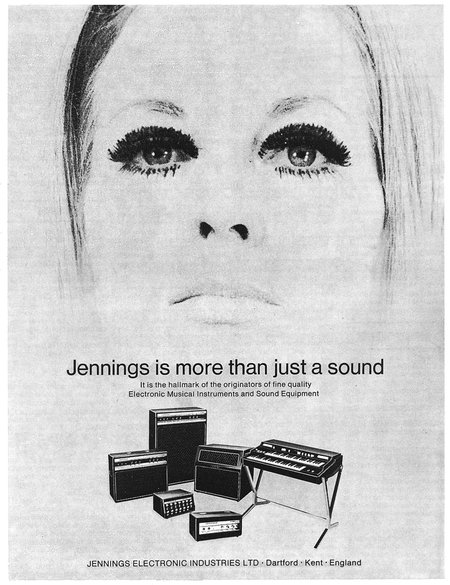 Jennings Electronic Industries in Beat Instrumental magazine, August 1971