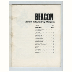 Beacon, Journal of the Royston Group, page 1