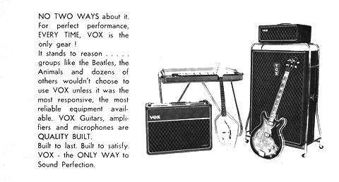 Vox Ac100 adverts in magazines and periodicals