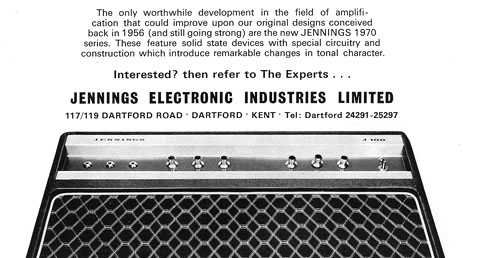 Jennings Electronic Industries 1970-1971