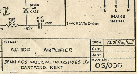 Vox AC80/100 and Vox AC100 schematics
